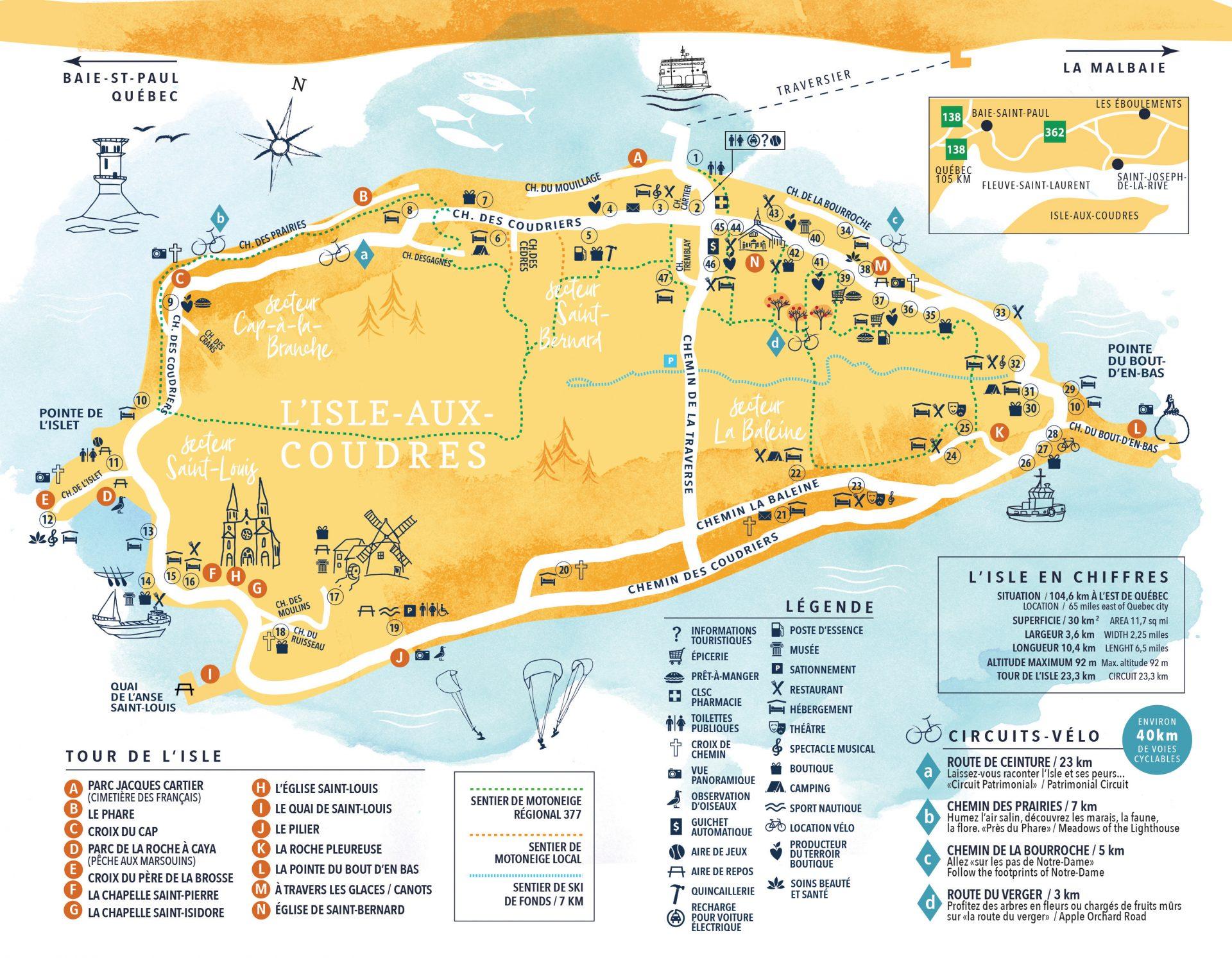 Carte Touristique Guide Interactif Tourisme Isle Aux Coudres